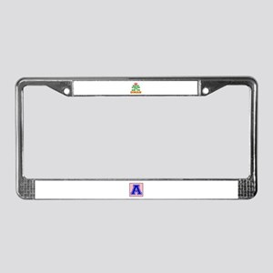 Keep Calm And Go To Oman Count License Plate Frame