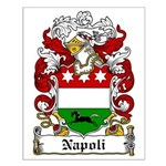 Napoli Family Crest Small Poster