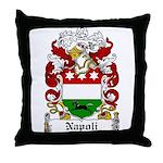 Napoli Family Crest Throw Pillow