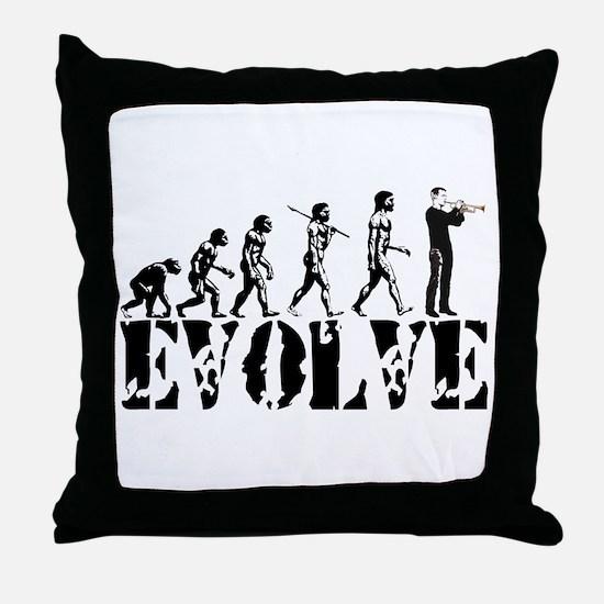 Trumpet Evolution Throw Pillow