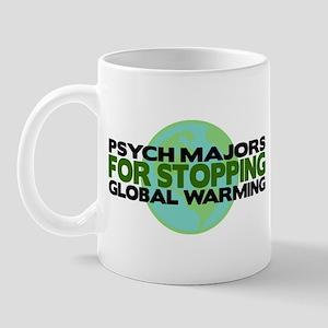 Psych Majors Stop Global Warming Mug