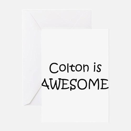 Cute Colton Greeting Card