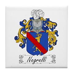 Negrelli Family Crest Tile Coaster