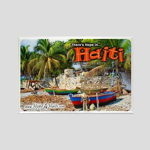 'Fishing Boats & Wall' Rectangle Magnet