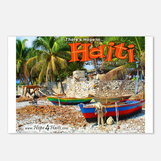 'Fishing Boats & Wall' Postcards (Package of 8)