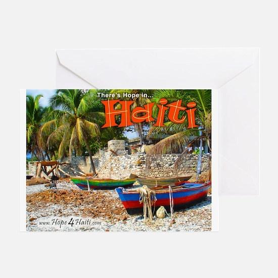 'Fishing Boats & Wall' Greeting Card