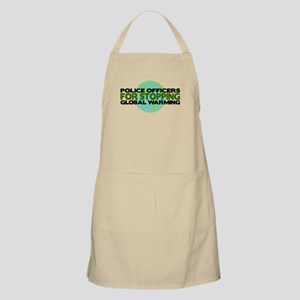 Police Officers Stop Global Warming BBQ Apron
