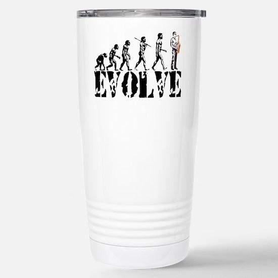 Sax Saxophone Evolution Stainless Steel Travel Mug