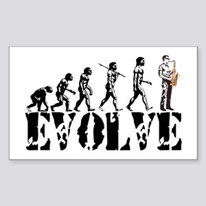 Sax Saxophone Evolution Rectangle Sticker
