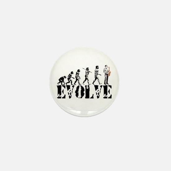 Sax Saxophone Evolution Mini Button