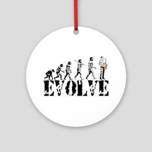 Sax Saxophone Evolution Ornament (Round)