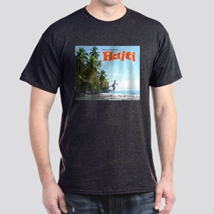 'Fishing Boats & Wall' Dark T-Shirt