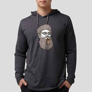 Funny Beard Design Beard Wease Long Sleeve T-Shirt