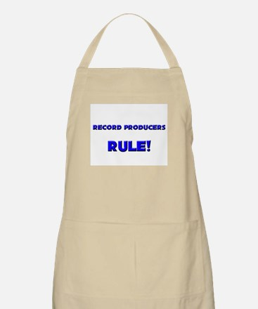 Record Producers Rule! BBQ Apron