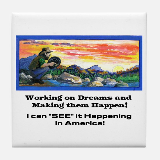 American Dreams Tile Coaster
