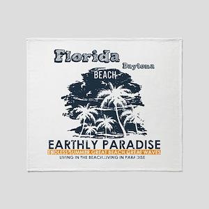 Florida - Daytona Beach Throw Blanket