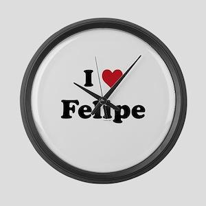 I love Felipe Large Wall Clock