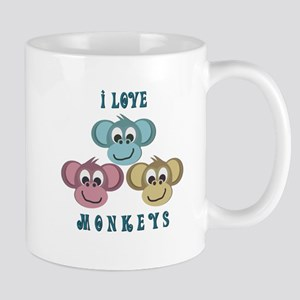 I love Monkeys Retro Style Mug