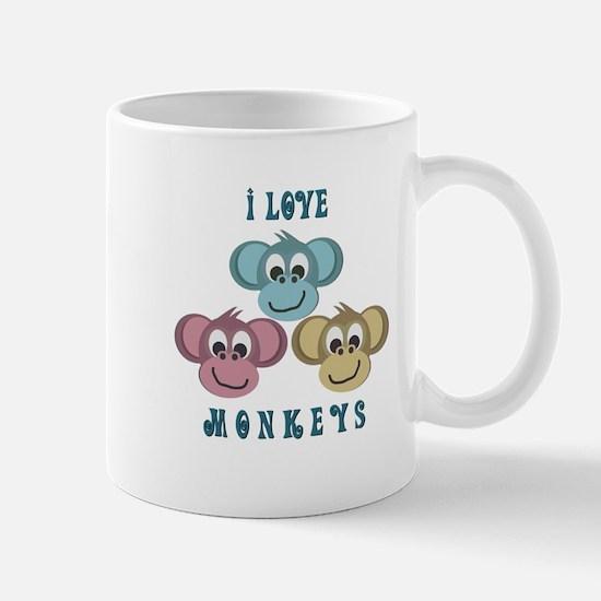 I love Monkeys Retro Style Mug