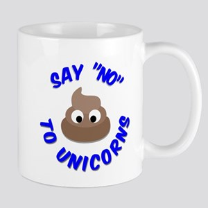Poo Emoji Funny Anti Unicorn Mugs