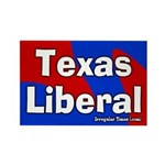 Texas Liberal Rectangle Magnet