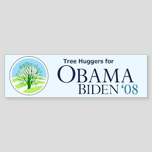 Tree Huggers for Obama Bumper Sticker