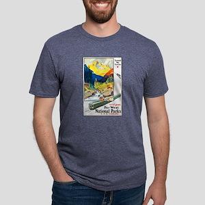 National Parks Travel Poster 6 T-Shirt