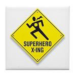 Superhero Sign Tile Coaster