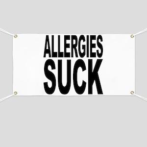 Allergies Suck Banner
