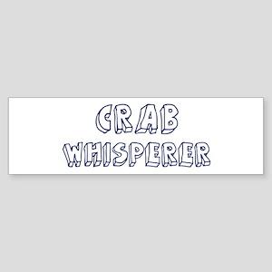 Crab Whisperer Bumper Sticker