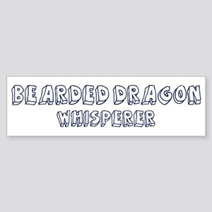 Bearded Dragon Whisperer Bumper Sticker