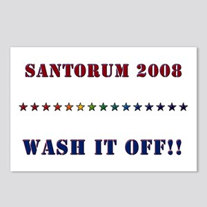 Santorum 2008 - Wash It Off!! Postcards (Package o