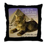 Cats in Egypt Throw Pillow