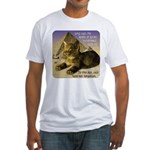 Cats in Egypt Fitted T-Shirt