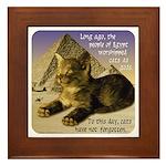 Cats in Egypt Framed Tile