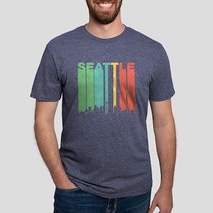 Vintage Seattle Cityscape T-Shirt