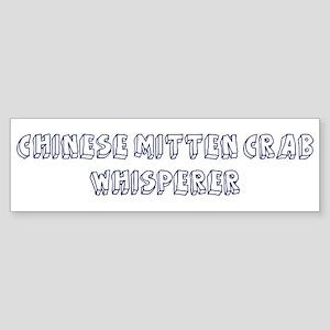 Chinese Mitten Crab Whisperer Bumper Sticker