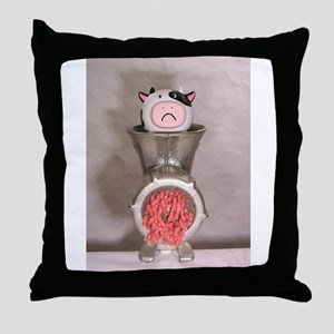 Processing Cow Throw Pillow