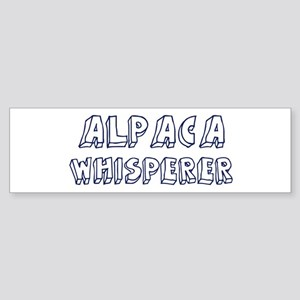 Alpaca Whisperer Bumper Sticker