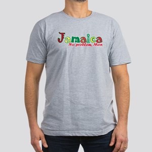 Jamaica No Problem Men's Fitted T-Shirt (dark)
