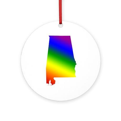 Alabama Gay Pride Ornament (Round)