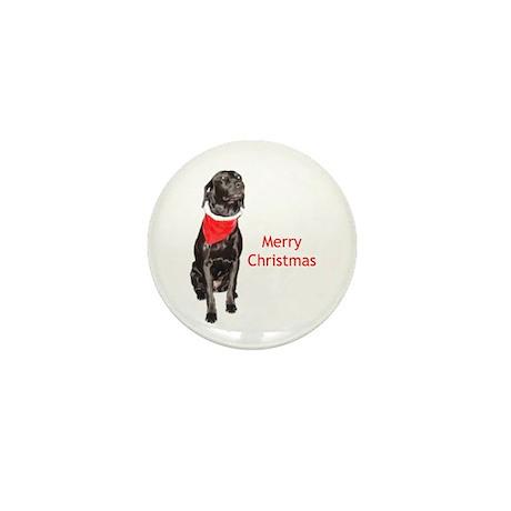 merry Christmas lab Mini Button