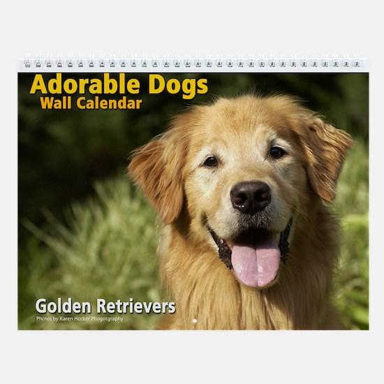 Adorable Golden Retrievers Wall Calendar