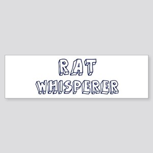 Rat Whisperer Bumper Sticker