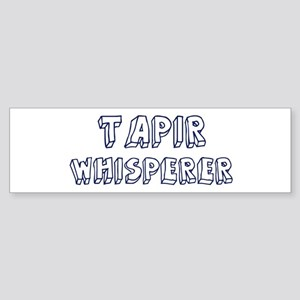 Tapir Whisperer Bumper Sticker