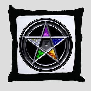 Element Pentacle Throw Pillow
