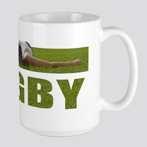 Rugby Girl in the Grass Large Mug