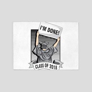 Graduation 2018 Shirt College High 5'x7'Area Rug