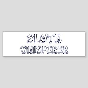 Sloth Whisperer Bumper Sticker