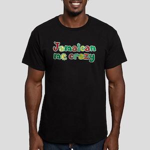 Jamaican Me Crazy Men's Fitted T-Shirt (dark)